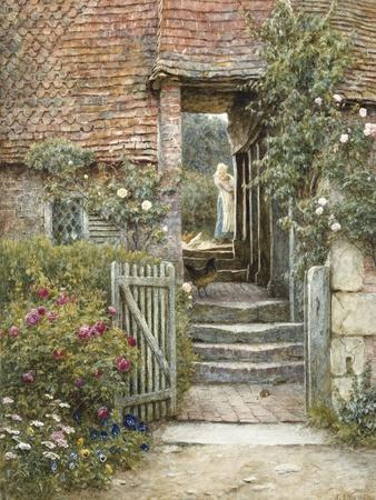 Under the Old Malthouse, Hambledon, Surrey (Watercolour with Scratching Out)
