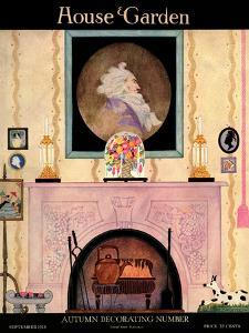 House & Garden Cover - September 1918 by Helen Dryden