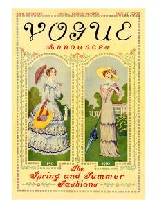 Vogue Cover - April 1910 by Helen Dryden