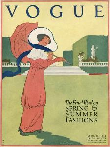 Vogue Cover - April 1912 by Helen Dryden