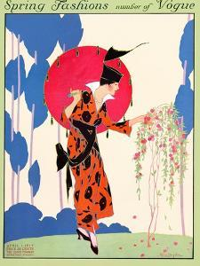 Vogue Cover - April 1914 by Helen Dryden