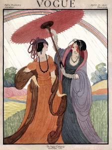 Vogue Cover - April 1920 by Helen Dryden