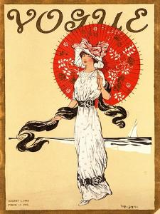 Vogue Cover - August 1910 by Helen Dryden