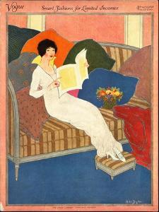 Vogue Cover - February 1913 by Helen Dryden