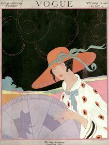 Vogue Cover - February 1917 by Helen Dryden