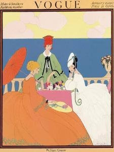 Vogue Cover - January 1917 by Helen Dryden