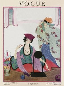 Vogue Cover - January 1920 by Helen Dryden