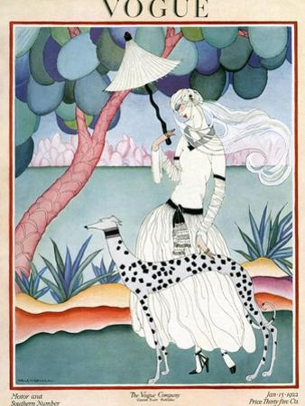 Vogue Cover - January 1922 - Dalmation Walk