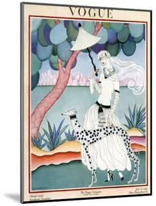 Vogue Cover - January 1922 - Dalmation Walk by Helen Dryden