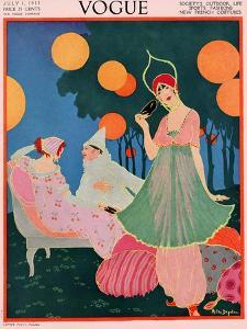Vogue Cover - July, 1913 by Helen Dryden