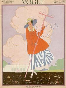 Vogue Cover - July 1915 by Helen Dryden