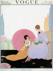 Vogue Cover - July 1917 by Helen Dryden