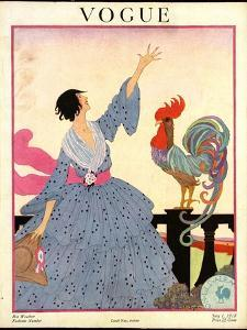 Vogue Cover - July 1918 by Helen Dryden