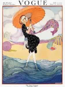 Vogue Cover - July 1919 - Seaside Stroll by Helen Dryden