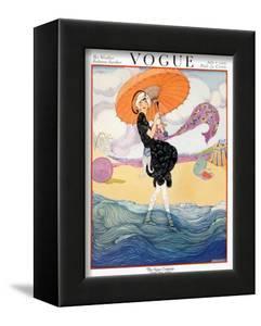 Vogue Cover - July 1919 - Seaside Stroll by Helen Dryden