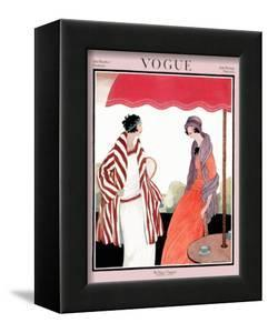 Vogue Cover - July 1922 by Helen Dryden