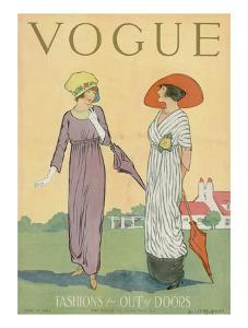 Vogue Cover - June 1911 by Helen Dryden