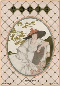 Vogue Cover - June 1912 by Helen Dryden