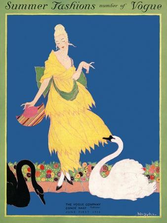 Vogue Cover - June 1914 by Helen Dryden