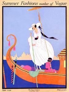 Vogue Cover - June 1916 by Helen Dryden