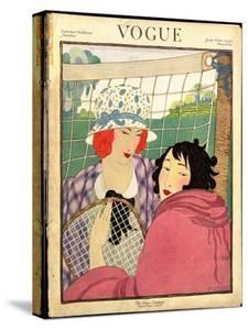 Vogue Cover - June 1920 by Helen Dryden