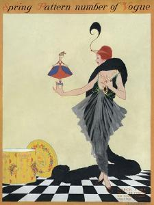 Vogue Cover - March 1914 by Helen Dryden