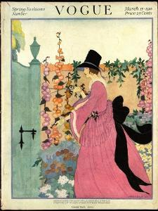 Vogue Cover - March 1918 by Helen Dryden