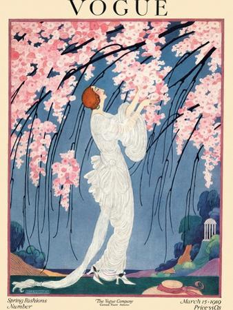 Vogue Cover - March 1919 by Helen Dryden