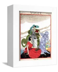 Vogue Cover - March 1921 by Helen Dryden