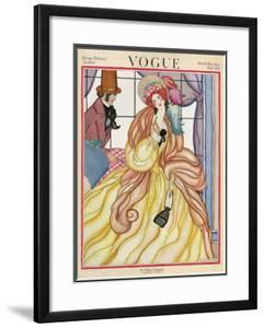 Vogue Cover - March 1922 by Helen Dryden