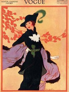 Vogue Cover - November 1912 by Helen Dryden