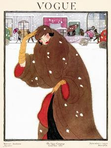 Vogue Cover - November 1920 by Helen Dryden