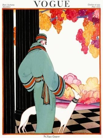 Vogue Cover - October 1922 - Dressed to Teal