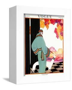 Vogue Cover - October 1922 - Dressed to Teal by Helen Dryden