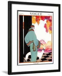 Vogue Cover - October 1922 by Helen Dryden