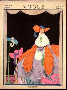 Vogue Cover - September 1916 by Helen Dryden