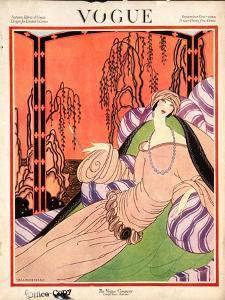Vogue Cover - September 1922 by Helen Dryden