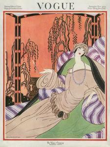 Vogue Cover - September 1922 by Helen Dryden
