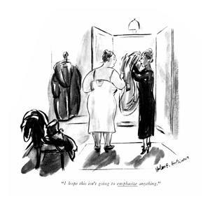 """I hope this isn't going to emphasize anything."" - New Yorker Cartoon by Helen E. Hokinson"