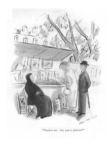 """Pardon me. Are you a grisette?"" - New Yorker Cartoon by Helen E. Hokinson"