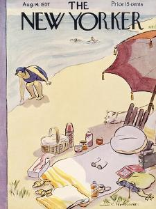 The New Yorker Cover - August 14, 1937 by Helen E. Hokinson