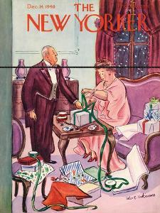 The New Yorker Cover - December 14, 1940 by Helen E. Hokinson