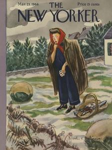 The New Yorker Cover - March 23, 1946 by Helen E. Hokinson