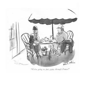 """We're going to just gypsy through France."" - New Yorker Cartoon by Helen E. Hokinson"