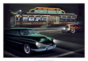 Diners and Cars II by Helen Flint