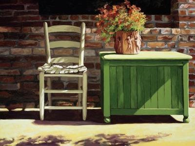 Chair on Sally's Patio by Helen J. Vaughn