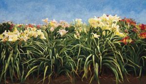 Day Lillies, c.1992 by Helen J^ Vaughn