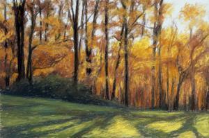 Early Fall Trees by Helen J^ Vaughn