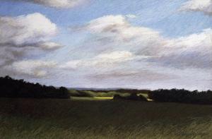 Evening Landscape in Summer by Helen J^ Vaughn