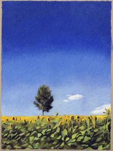Landscape in Perugia by Helen J^ Vaughn